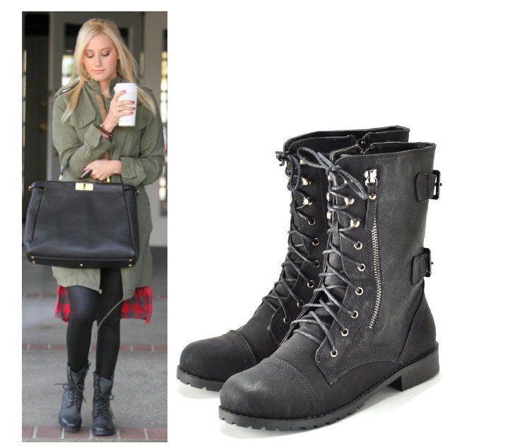 Fashion Combat Boots - Boot Hto