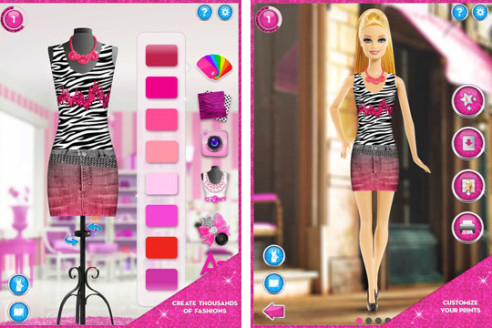 Barbie fashion designer doll game style jeans Online fashion designer games