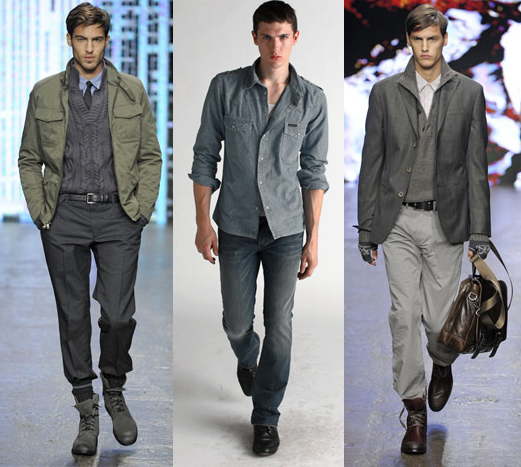 Vintage clothing, khaki chinos, workmens clothes, sweatshirts, leather coats, and all-denim outfits were also desired among young men. Other trends include printed shirts, zip-up cardigans, western shirts marketed to capitalise on the nostalgia for s fashion, .