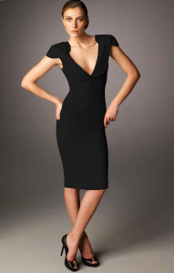 black cocktail dress with boots