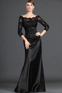 black-evening-dress-knee-length