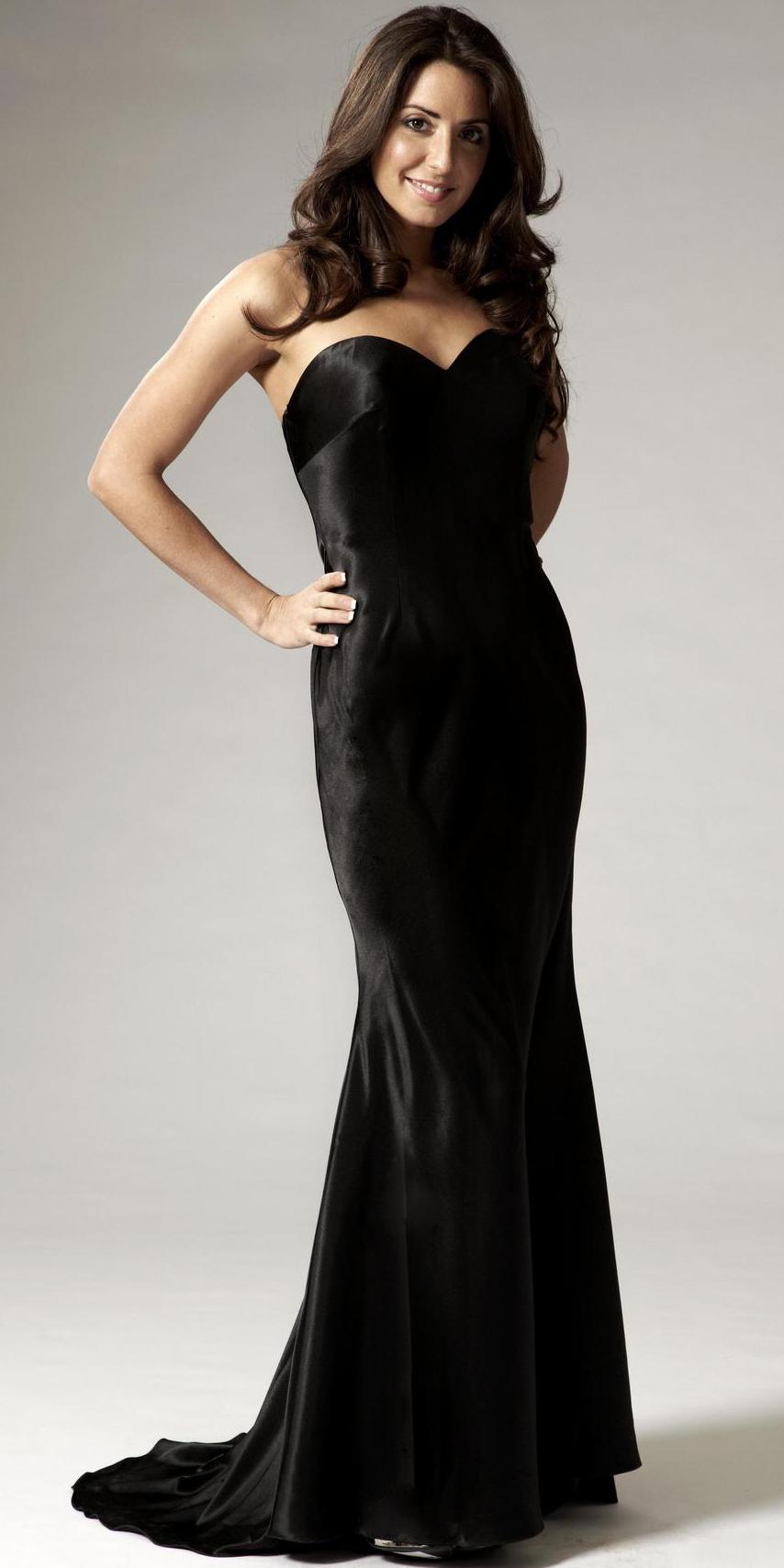 Long black evening dress plus size