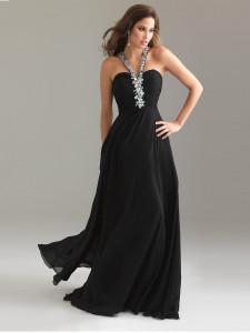 black evening dresses long