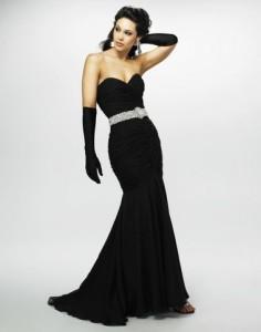 black evening dresses plus size
