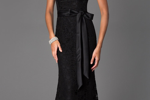 black evening dresses short
