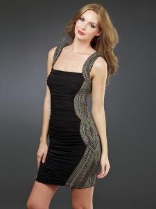 black party dresses long