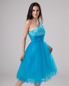 blue party dress girl