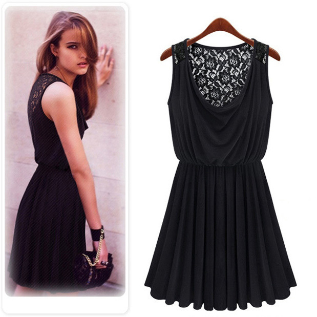 New New 2015 Summer Dress Women Fashion Vestidos Round Neck Sleeveless