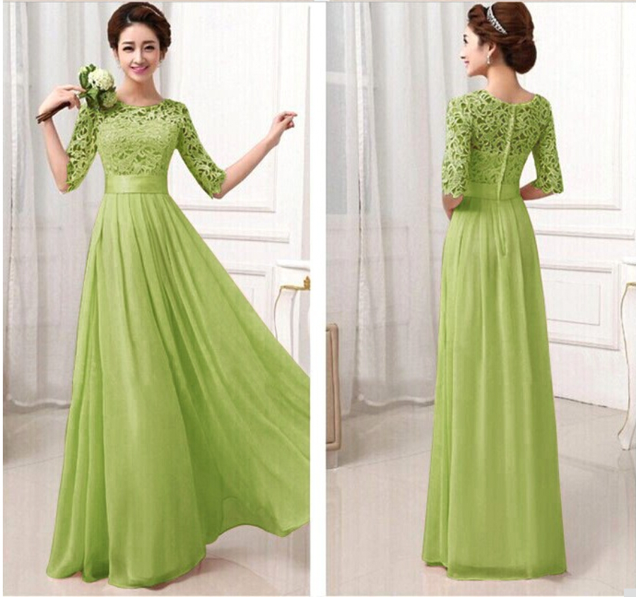Ladies Party Dresses With Sleeves - Long Dresses Online