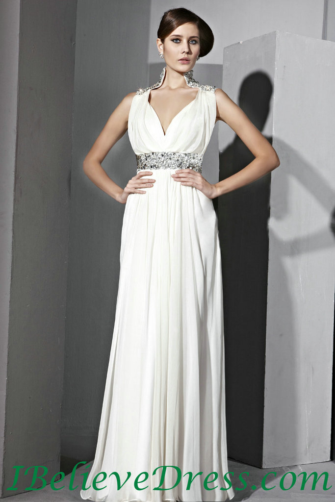 Long evening dress with sleeves - Style Jeans