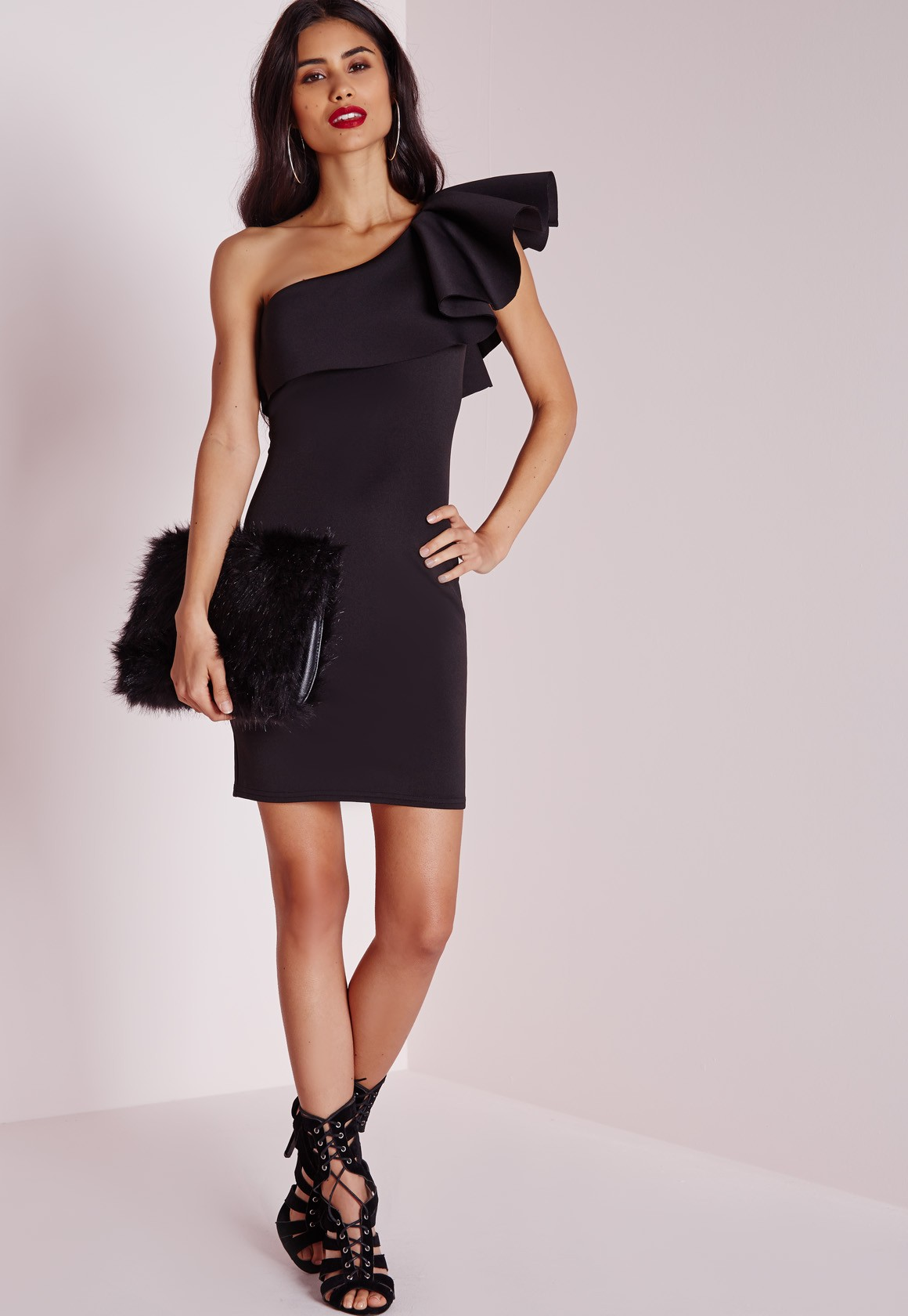 Product Features One shoulder wiggle dress great for casual work wear,office dress.