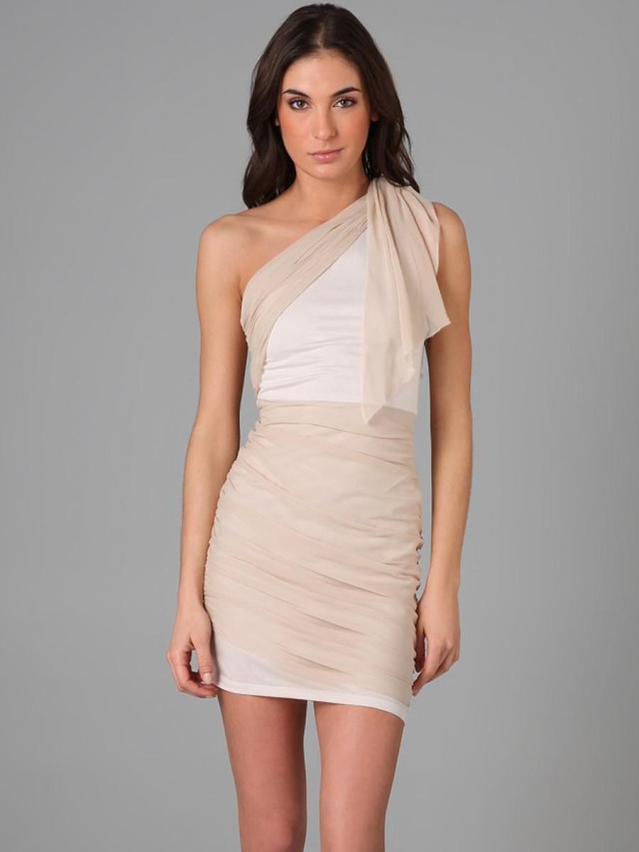 One Sleeve Short Dresses