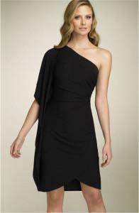 one shoulder dresses short