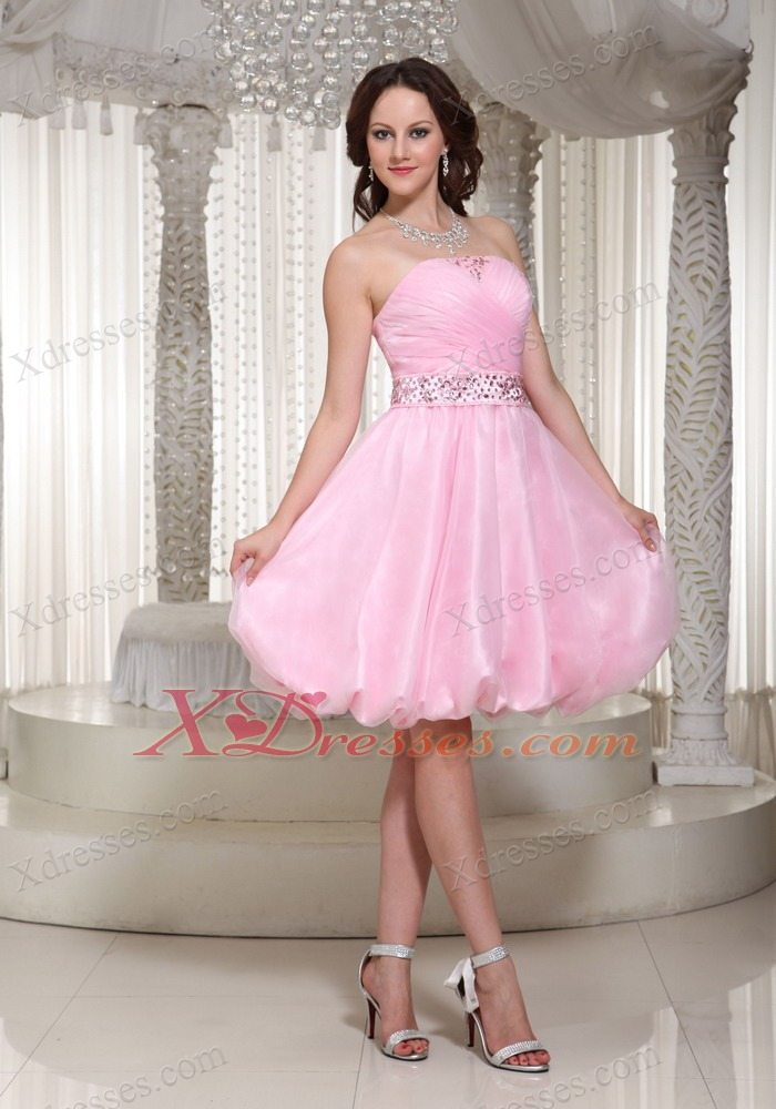 Pink cocktail dresses knee length - Style Jeans