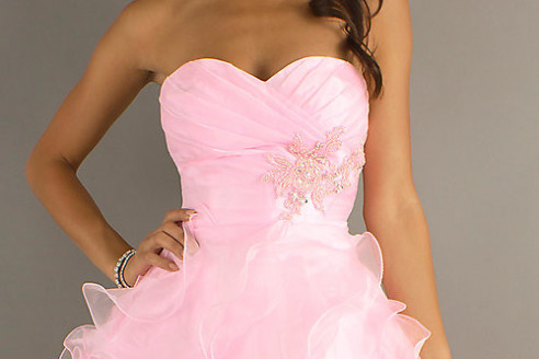 pink party dresses cheap
