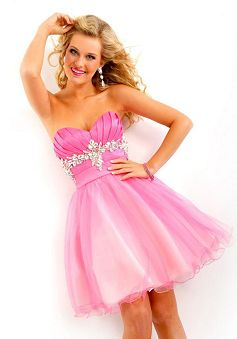 Images of Pink Party Dress - Reikian