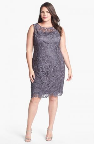 plus size cocktail dress with jacket - style jeans