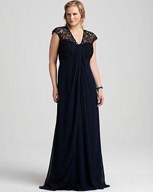 dress plus size evening