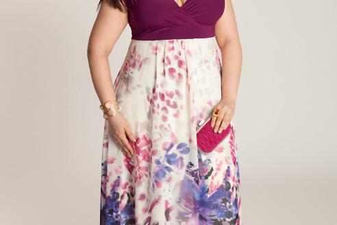 plus size maxi dress long sleeve