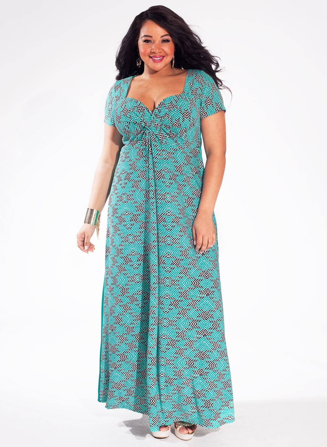 Plus size maxi dress sewing pattern
