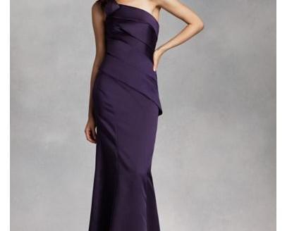 satin dress short