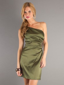 satin dress with sleeves