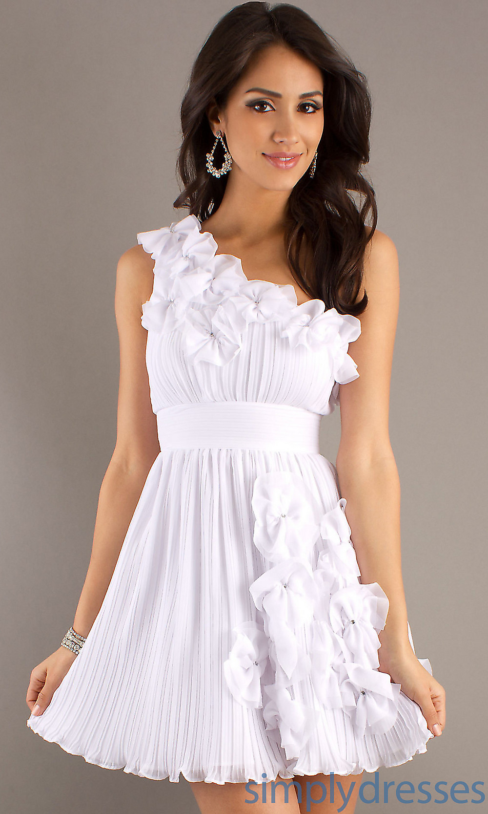 Short white dresses with long sleeves style jeans for Cute short white wedding dresses