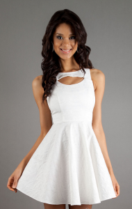 short white dresses for juniors