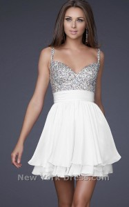 short white dresses for prom