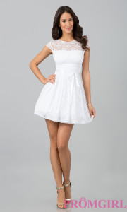 short white dresses lace