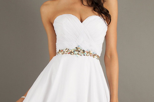 short white dresses plus size