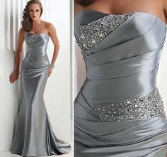 silver dresses cheap
