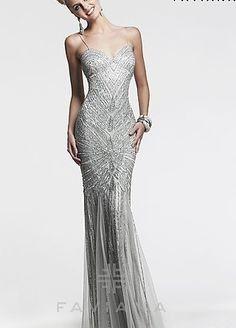 silver dresses plus size