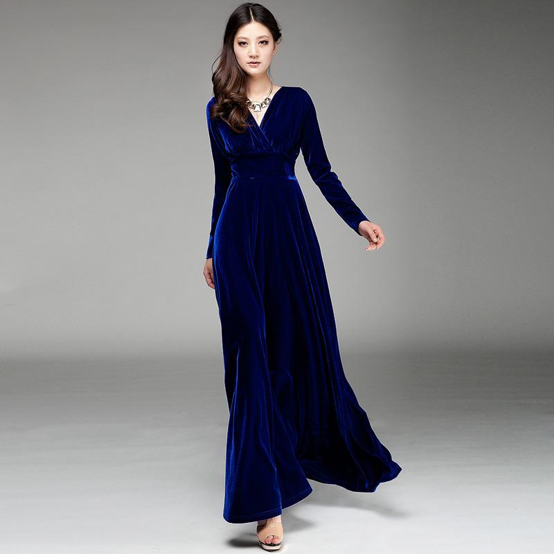 Velvet dresses long - Style Jeans