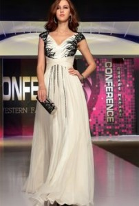 white evening dress long