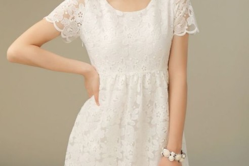white lace summer dress plus size