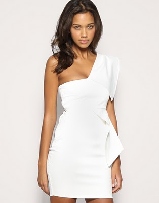 If the white party is on a pier or in a garden, then a classic two-piece bandage dress is a go-to staple (take a white swimsuit along too). White two piece sets come in a variety of styles. Our favorite is the pencil skirt inspired bottom.