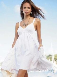 white summer dress amazon
