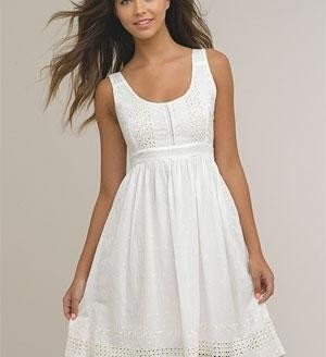 white summer dress casual