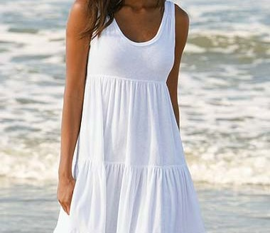 white summer dress long