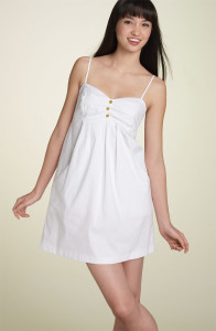 white summer dress size 16