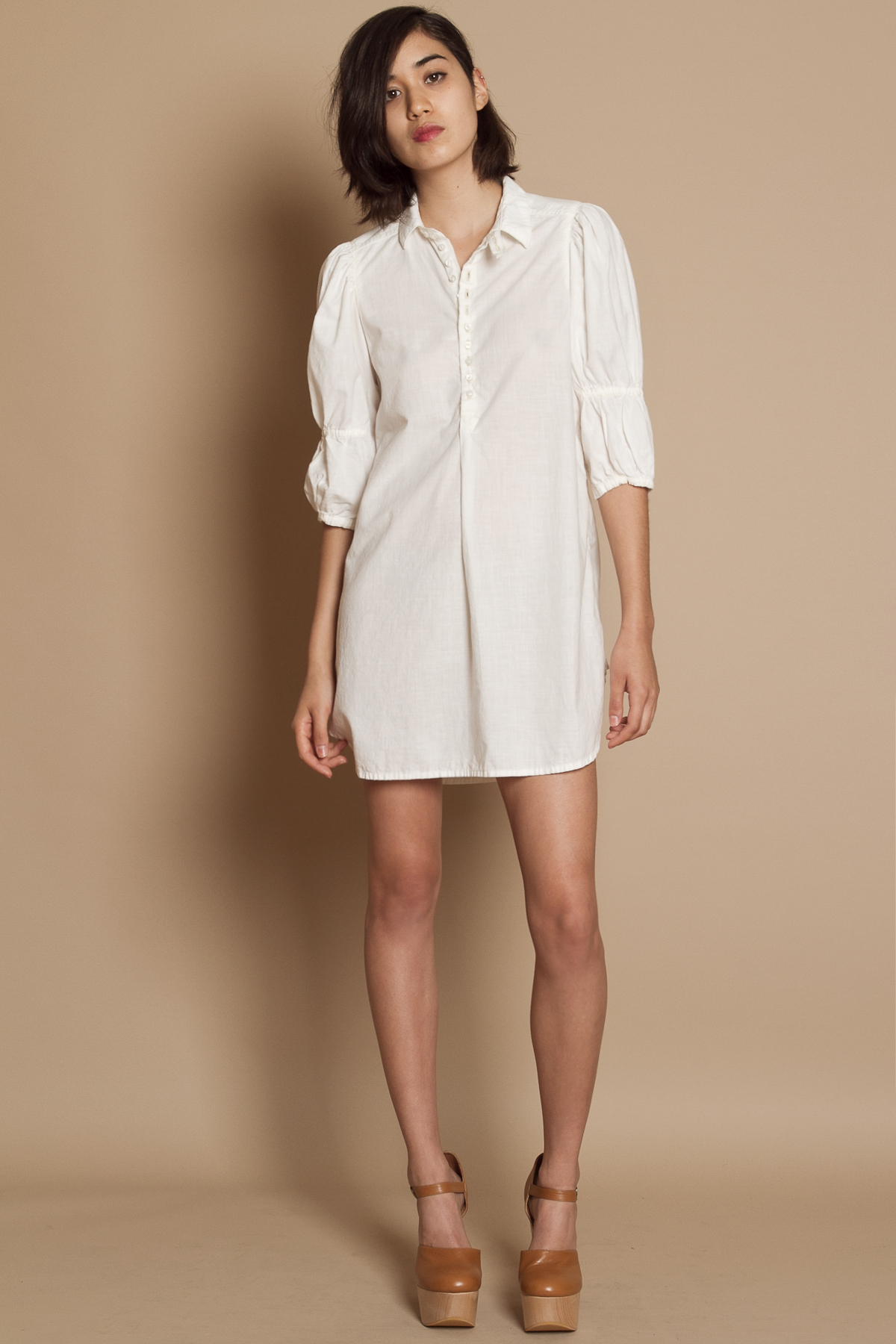 Creative Home White Dresses MM6 Maison Margiela Womens Midi Shirt Dress With Cape Tie Sleeve  White  IT 44UK 12 Womens White Long Cut Shirt Dress From The Maison Martin Margiela Diffusion Line, MM6 Maison Margiela Crafted