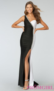 black and white formal dresses for mother of the bride