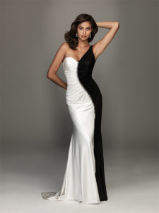 black and white formal dresses plus size
