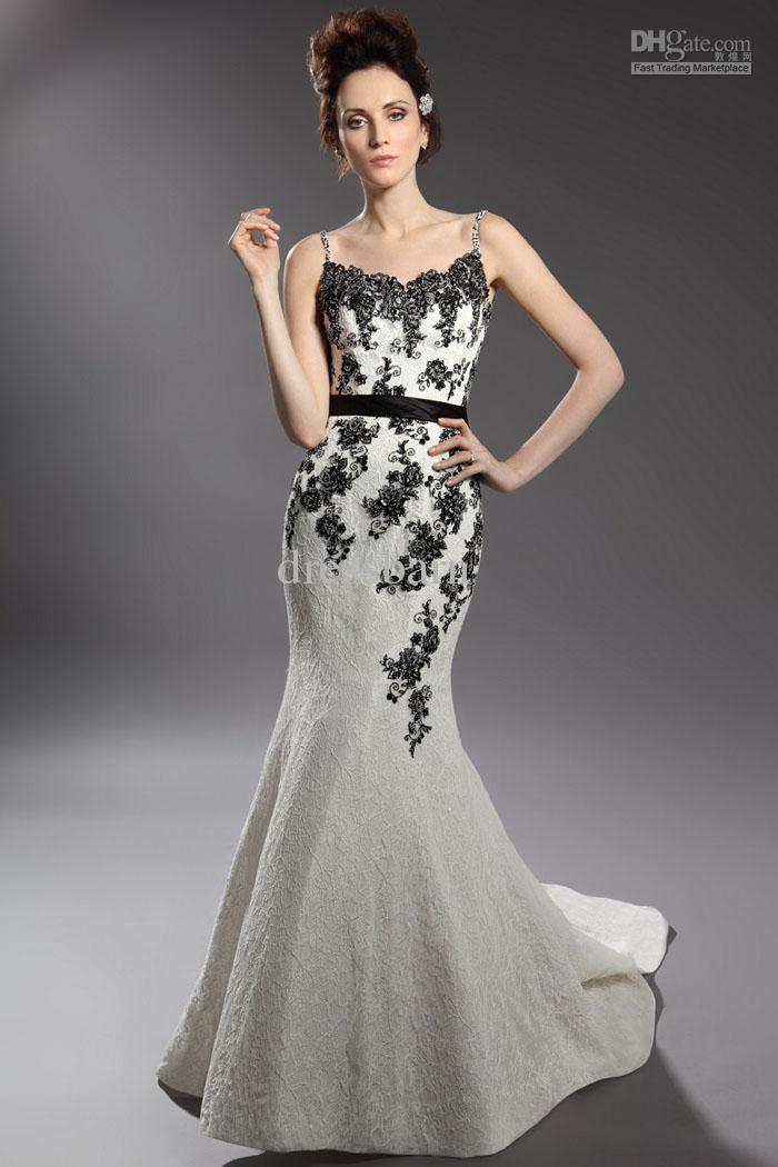 Black and white formal dresses for juniors style jeans for Black mermaid wedding dresses