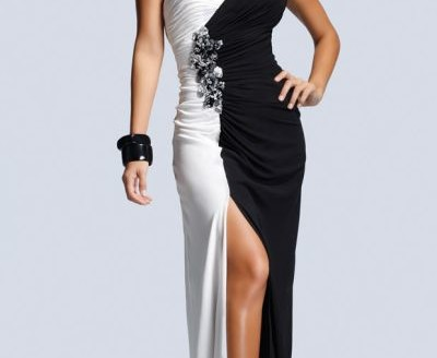 black and white formal dresses under 100