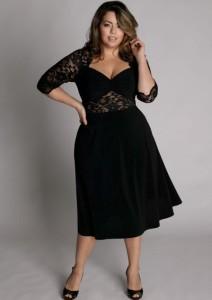 black dress plus size 2
