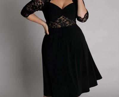 black dress plus size 2