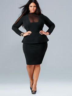 black dress plus size 3