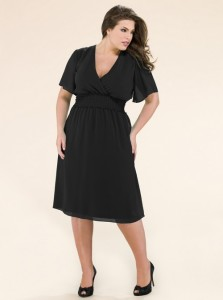 black dress plus size 4